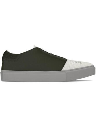 women sneakers leather crocodile shoes