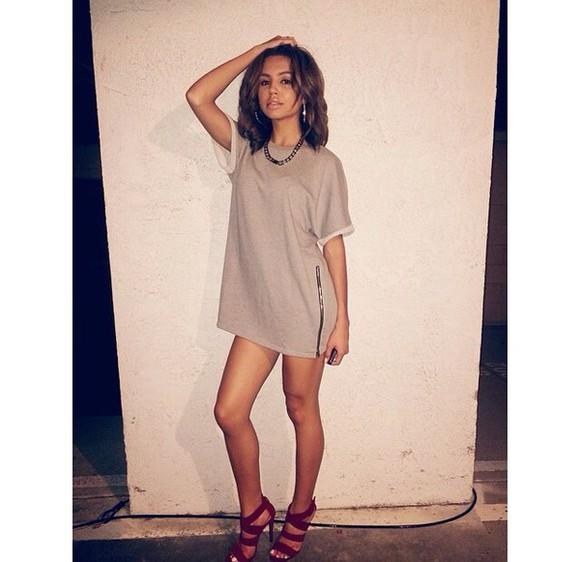 khaki shirtdress zipper burgundy high heels long shirt cute high heels shirt