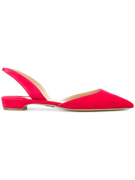 Paul Andrew women leather suede red shoes