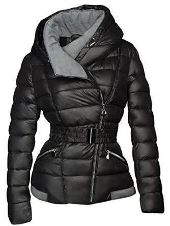 Kurz Damen Winter Stepp Daunen Optik Jacke Designer Kapuze 6bfy7gYv