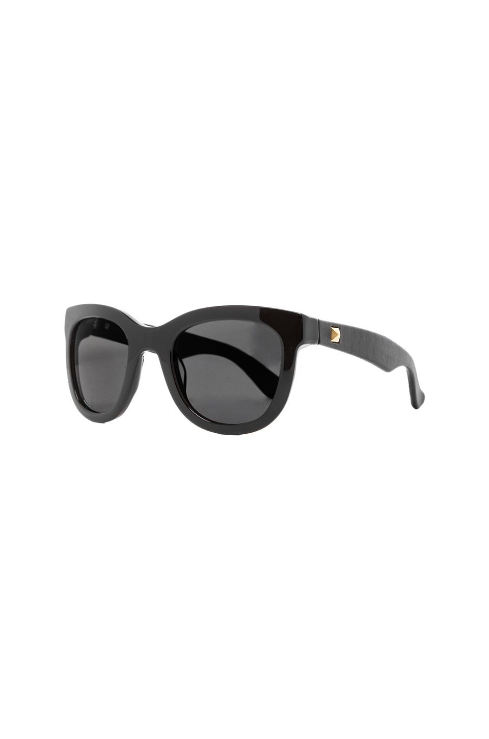 ANINE BING New York Sunglasses in Black | REVOLVE