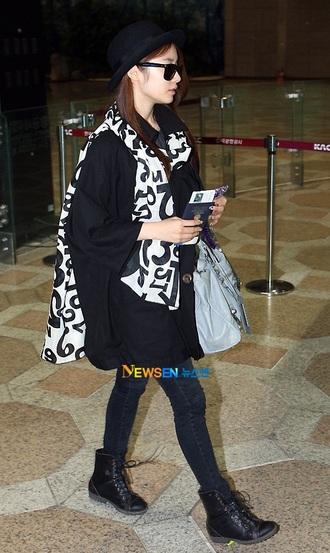 t-ara jiyeon korea korean fashion scarf white scarf orange scarf red scarf
