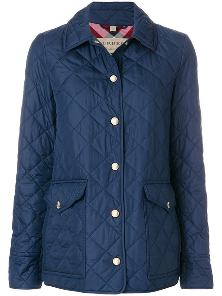 Burberry jacket women quilted blue