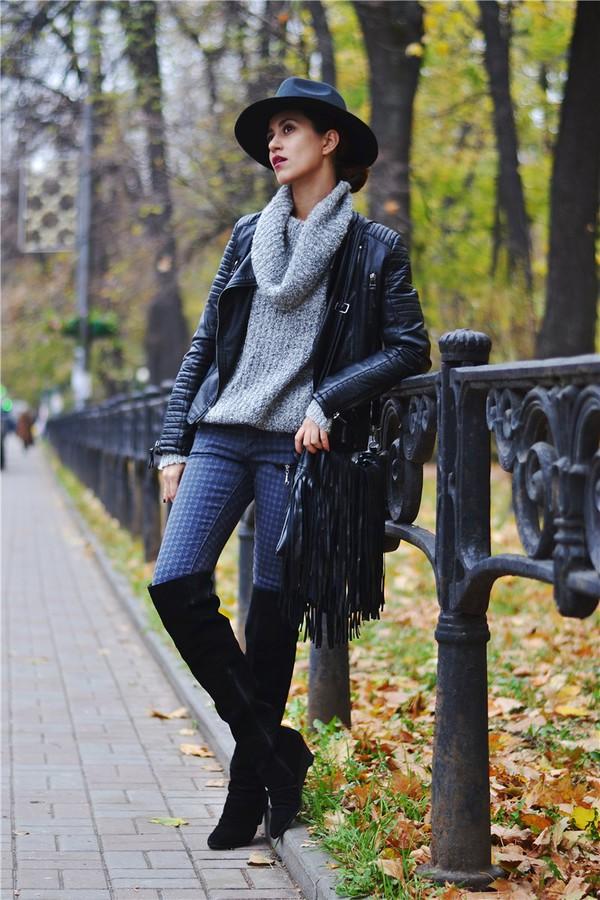 tina sizonova blogger jeans bag
