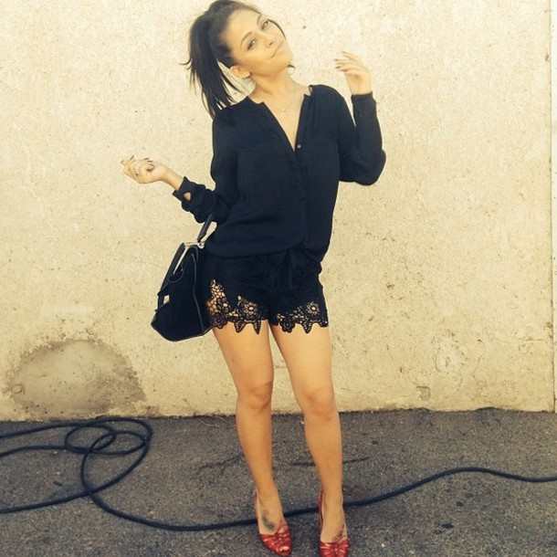 shorts fashion black