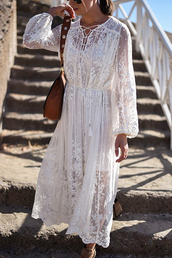 thank fifi,blogger,dress,shoes,bag,jewels,white dress,boho dress