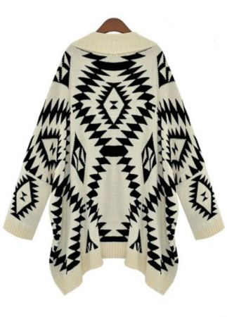 Tribal Print Cardigan-Fashion Passionates