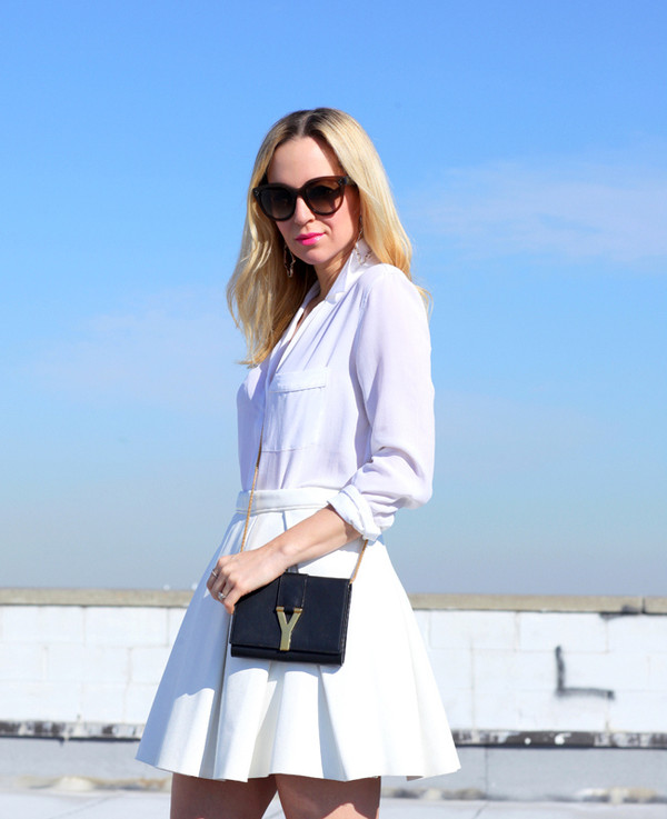 brooklyn blonde skirt jewels bag shoes