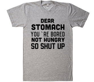 t-shirt grey fashion style shirt cool summer sporty trendy spring sportswear quote on it funny food