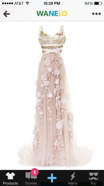 dress flowers prom dress