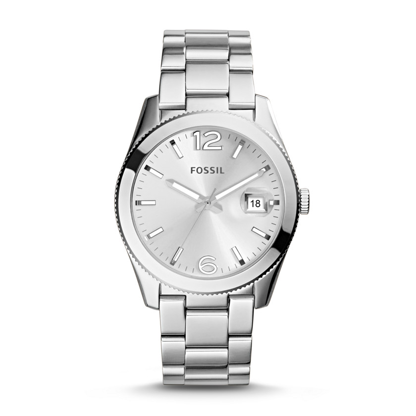 Hand date stainless steel watch