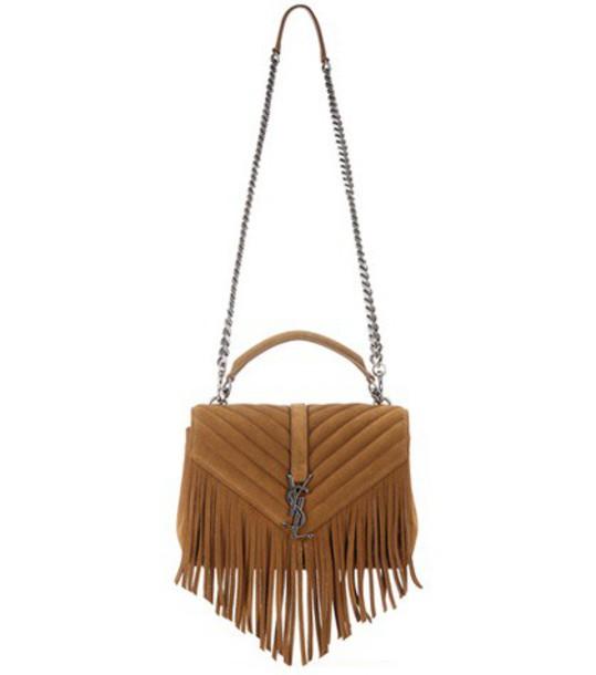 classic bag shoulder bag suede brown