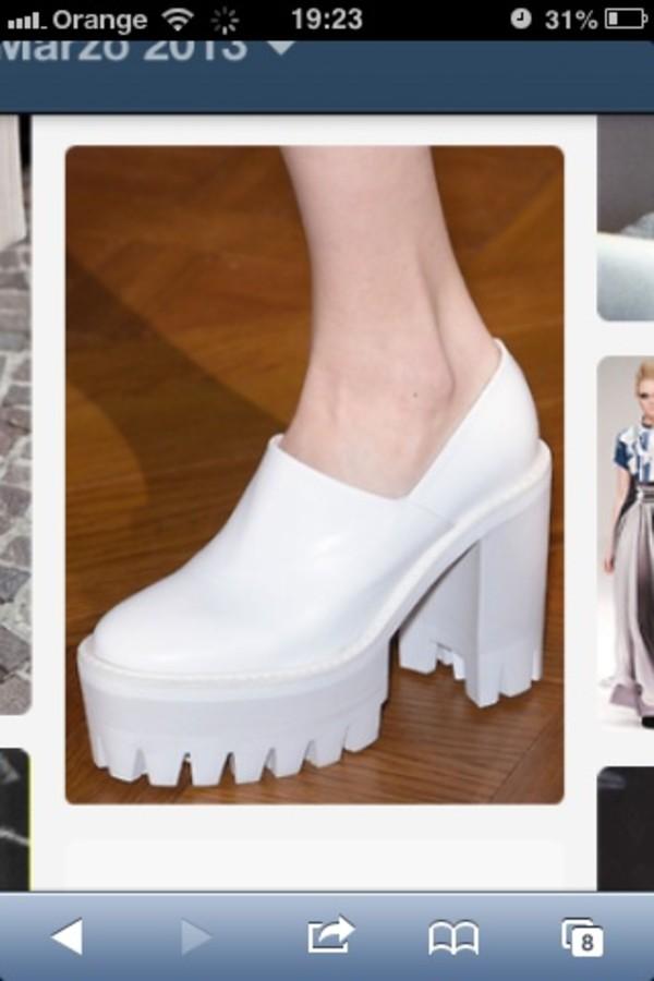 shoes white platforms