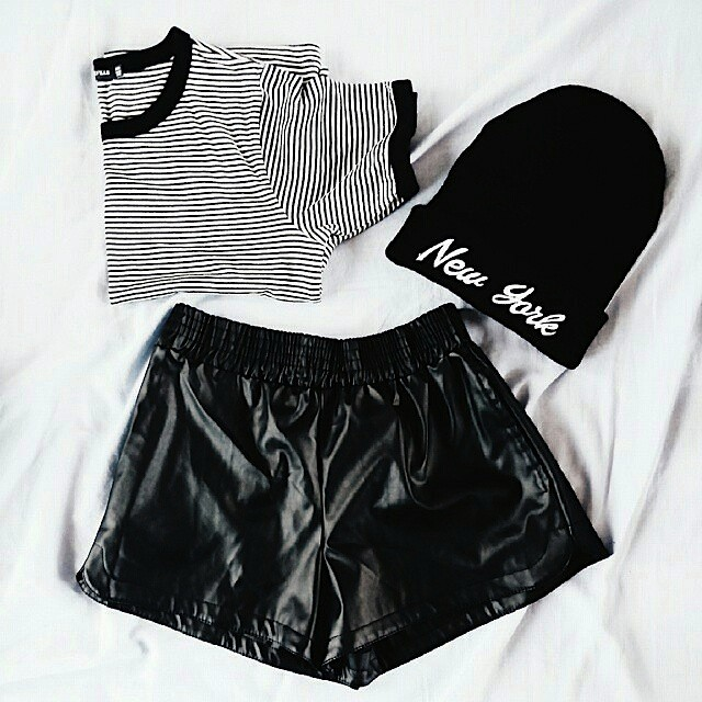 Street chic faux leather shorts