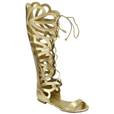 Amazon.com: Breckelle Women's Solo-15 Gladiator Sandals, Gold: Shoes