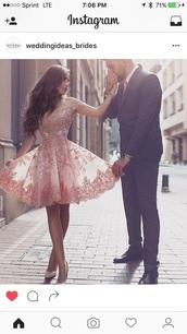 dress,pink dress,homecoming dress,party dress,flowy,pink,lace,lace dress,short dress,pattern,sleeves,off the shoulder dress,floral,designed,pretty,perfect,love,sheer,beautiful,loveinghautecouture,haute couture,fashion,beading,sparkle,tulle skirt,prom,prom dress,prom beauty,homecoming,cute,basic,nightwear,flare,beaded,blush,midi dress,lace appliqued dress