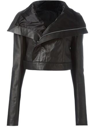 jacket biker jacket cropped black