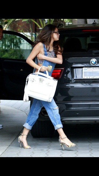 overalls summer tumblr selena gomez celebrity style tumblr outfit