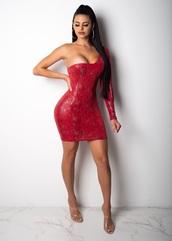dress,red,snake print,mini,mini dress,snake