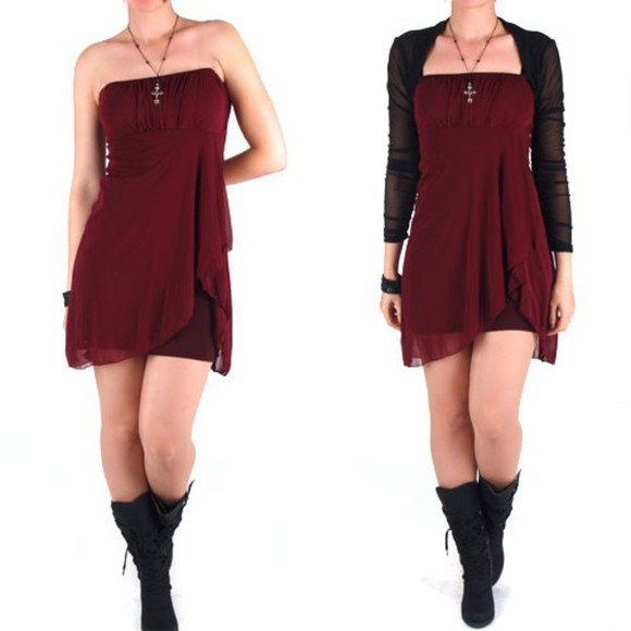 dress tulle shoes red wine dress red burgundy