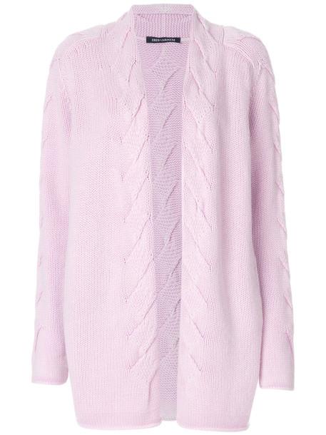Iris von Arnim cardigan cardigan open women purple knit pink sweater
