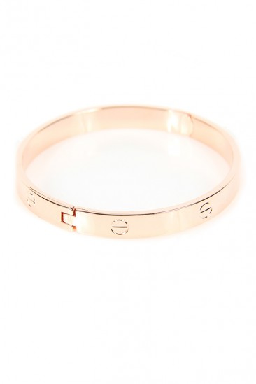 LoveMelrose.com From Harry & Molly | Designer Look Bracelet - Rose Gold