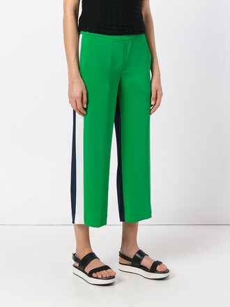 cropped women green pants