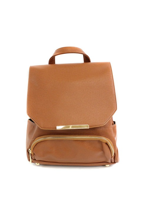 Bailey camel leather backpack