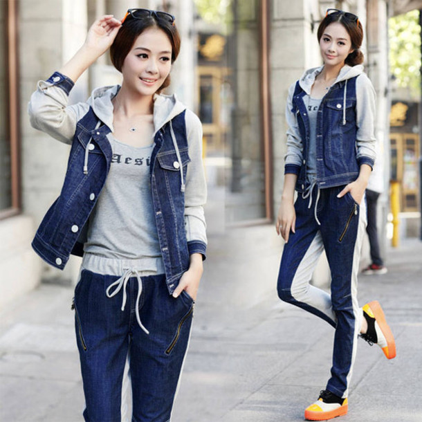 Jacket: denim, denim jacket, sweater, hooded, hoody, hoodie ...