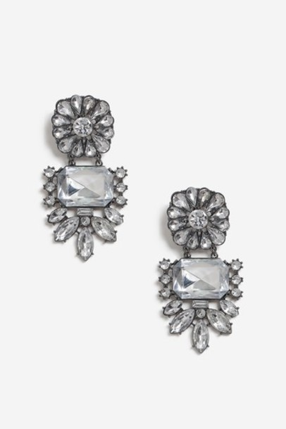 Topshop clear statement earrings jewels