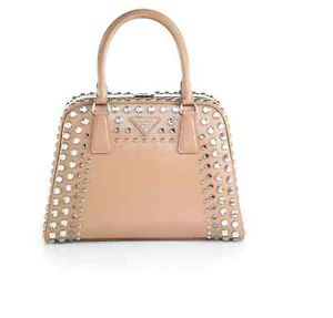Prada Saffiano Vernice Embellished Frame Pyramid Top Handle Bag $4000 | eBay