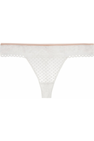 thong embroidered lace white underwear