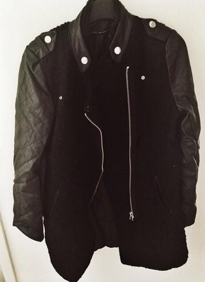 jacket zipper cool blackjacket blackcoat leatherjacket