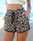 Leopard boho beach shorts
