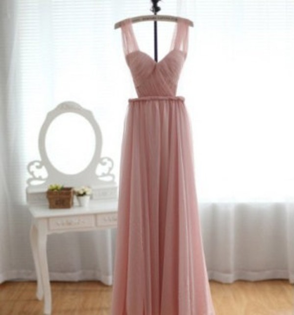 light pink prom dress dress