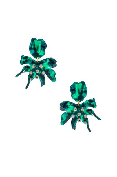Lele Sadoughi Daffodil Earrings in green