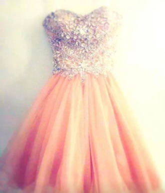 dress orange dress puffy