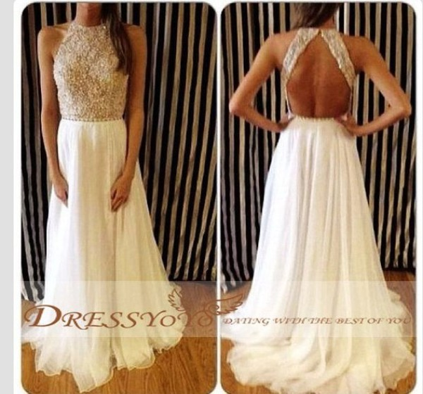 Cheap Prom Dresses - Discount Vestidos High Neck Evening Gowns ...