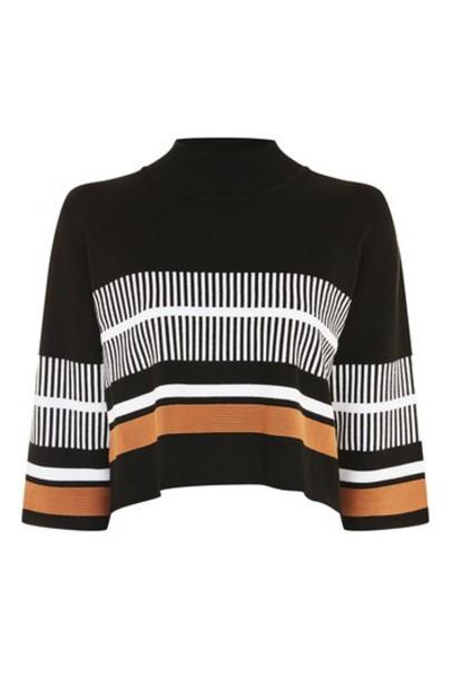 Topshop jumper high high neck black sweater