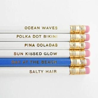 jewels pink pencils