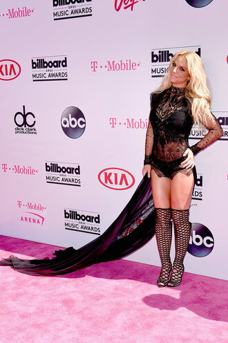 dress sandals booties britney spears billboard music awards all black everything lace dress lace black underwear panties top sexy