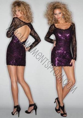dress purple dress prom dress homecoming dress short dress prom 2015 open back prom dress open back dress