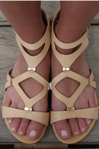shoes beige sandals flats amazinglace.com amazinglace summer gladiator white bottom white soles
