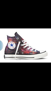 shoes,high top converse,converse,galaxy converse,tribal pattern