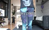 pants,galaxy print,jeans,printed pants,space,leggingd,leggings,skinny jeans,blue,purple,galaxy converse