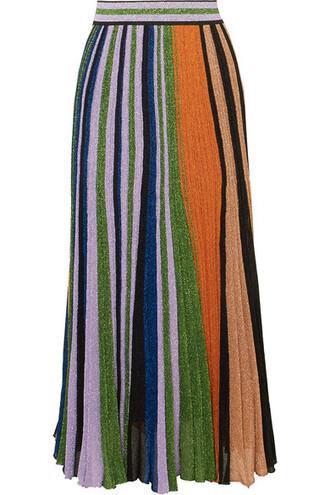 skirt maxi skirt maxi pleated metallic knit lilac