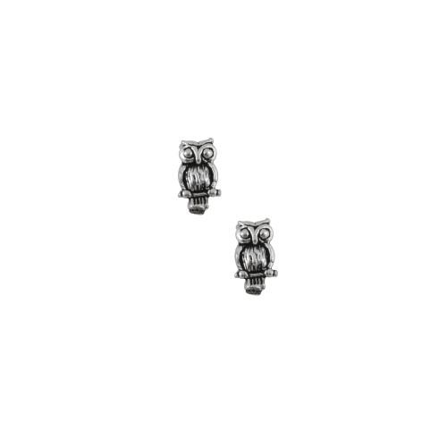 Sterling Silver Owl Stud Earrings   Jewel Exclusive