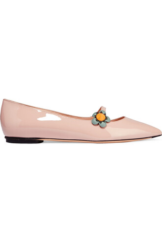 flats leather pastel pink pastel pink shoes
