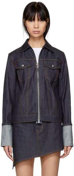 Helmut Lang jacket denim jacket denim zip