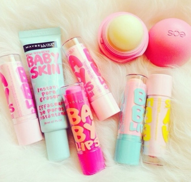 make-up eos lip balm babyliss curl pro 230